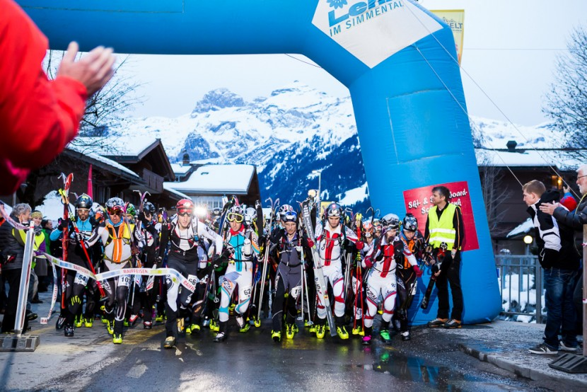 Start am Nightrace 2016 an der Lenk